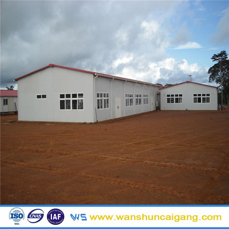 Light steel fram worker dormitory green prefab houses